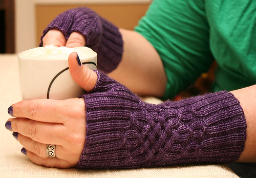 Glorious Cabled Mitts