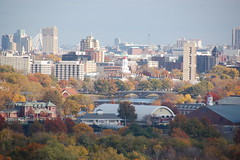 Mt Auburn Cemetery: View of Boston from Washin...
