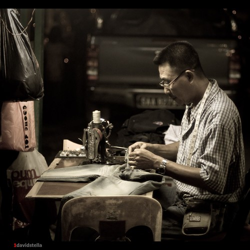 tailor at the night market.