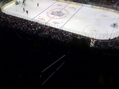 The press box is above the nose bleed section. Above the clouds