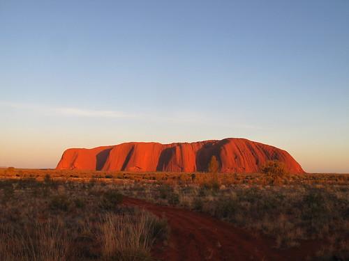 Uluru AYers Rock at sunrise