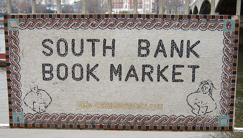 South Bank Book Market sign