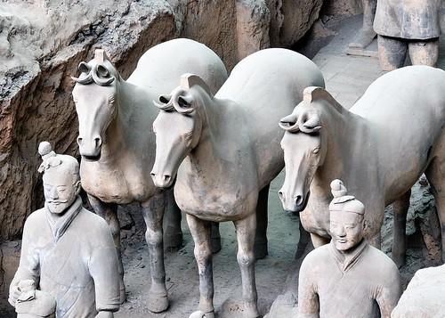 Los guerreros Xian. eloviparo