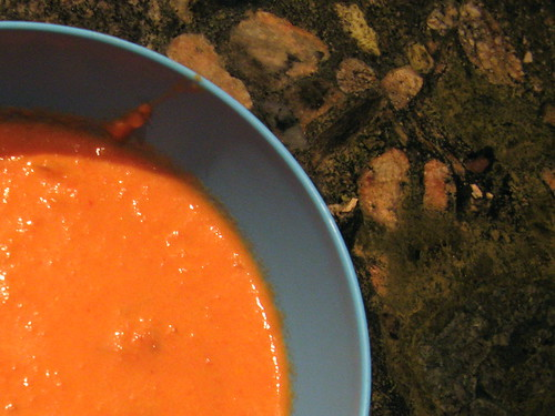 tomato soup with citrus and ginger
