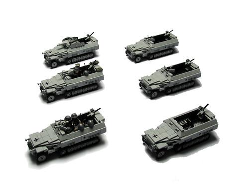 SdKfz 251 y variantes de Panzerbricks.