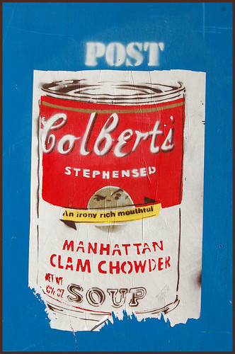 colbert meets warhol