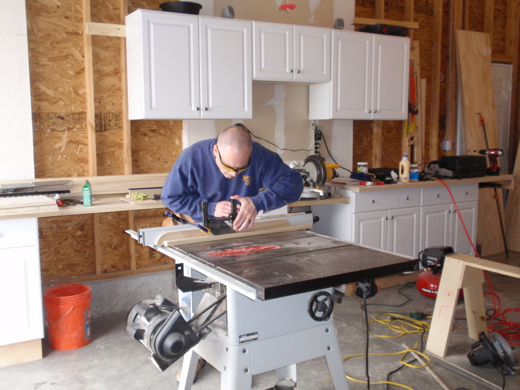 Paul Setting Up the Table Saw