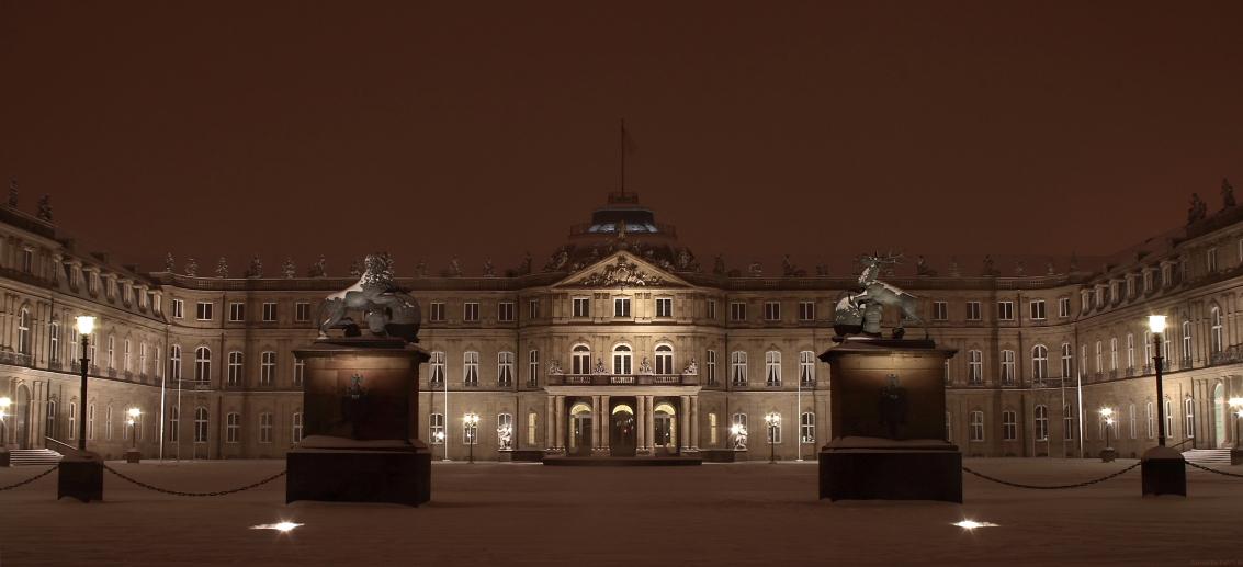 Stuttgart - Neues Schloss im Schnee