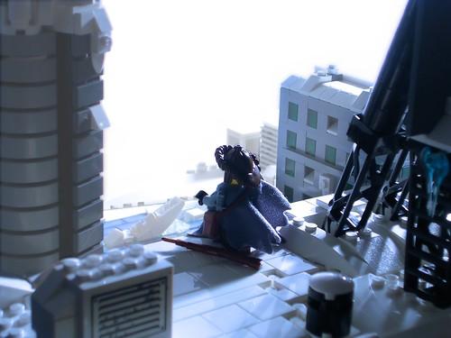 LEGO Snowmageddon post-apoc diorama by Catsy