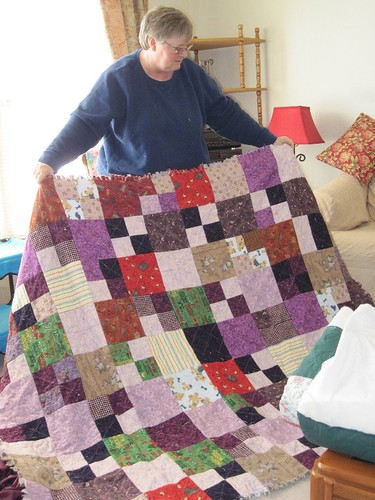Mickey Rag Quilt Back