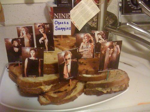 Oscar Party 2010 - NINE cheese sammies