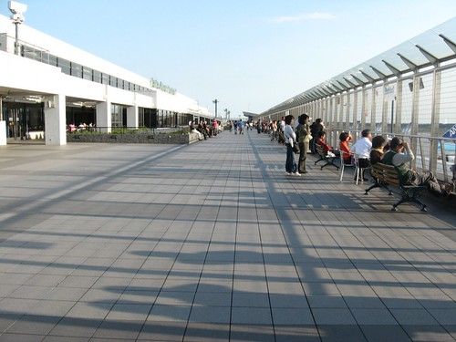 The observation deck at Narita Airport.