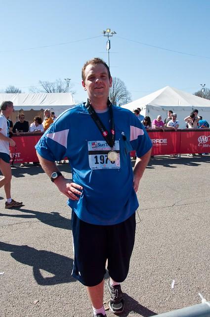 Finish line of the marathon!