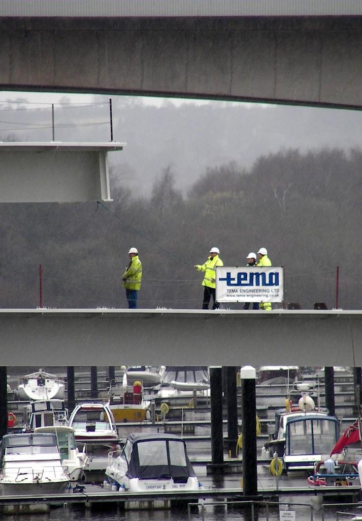 Construction of Pont Y Werin bridge
