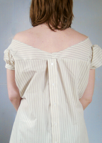 1880's Chemise Dress- Back