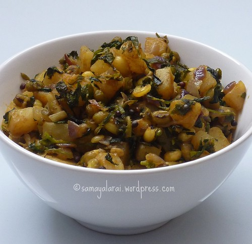 Sprouted Moong Aloo Methi