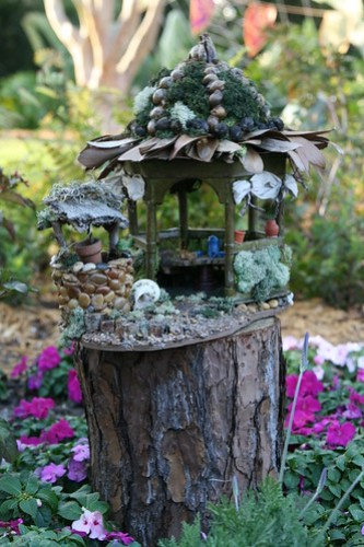 Wishing well and Fairy House