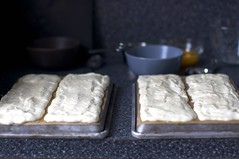 meringue layers, before baking