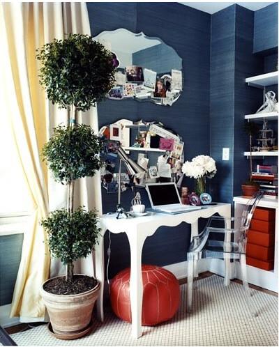 double mirror desk