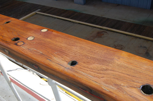 rail with varnish