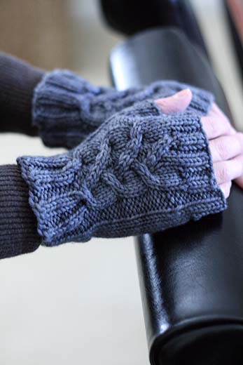 Fingerless Gloves Knitting Pattern Magic Loop : Fingerless Mitts and Mitts