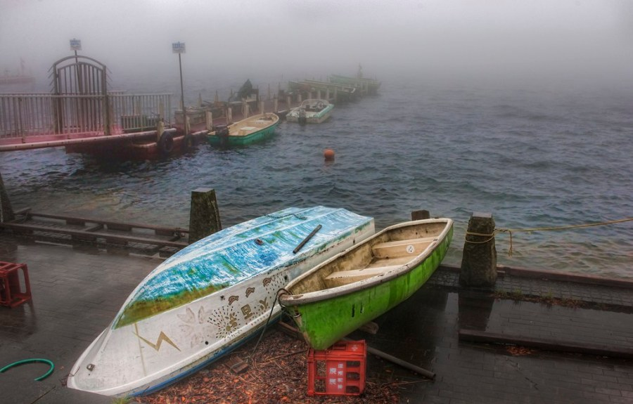 Lonely Boats in Hakone