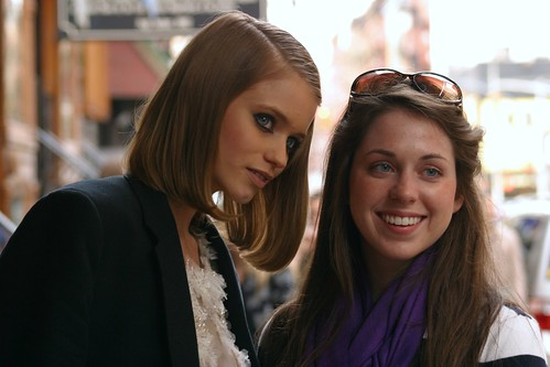 CHANEL: Abbey Lee with a Fan