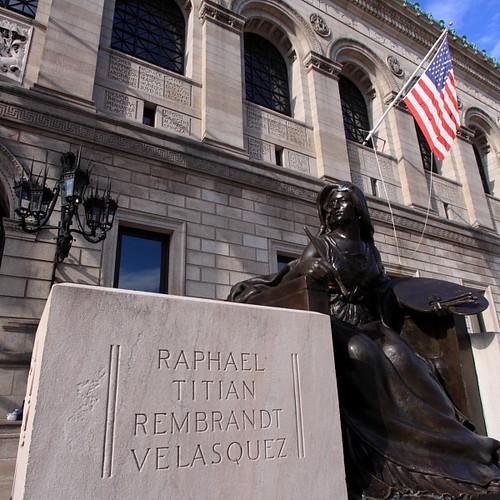 Personification of Art (square crop), Boston Public Library