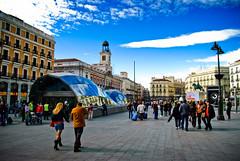 Tragabolas en la Puerta del Sol