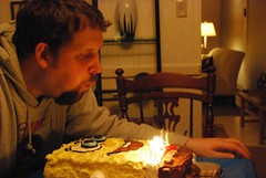 CSP blowing out his candles