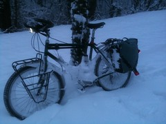 Vélotaf sous la neige