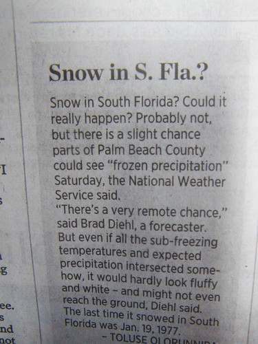 Snow in S. Florida?