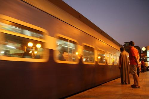 Cairo Train Station at Dusk