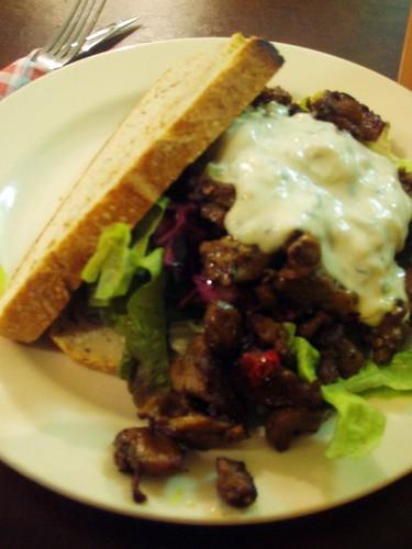 Seitan sandwich from Baklust