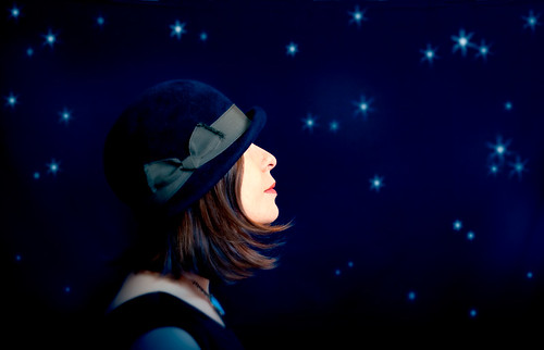 Wandering Through the Blue Sky Night