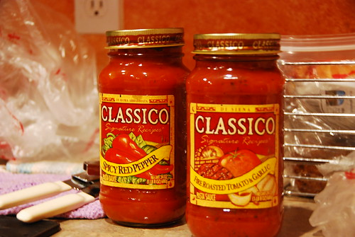 2 jars of sauce (your choice)