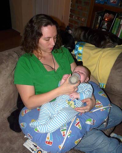 Mom feeding Ollie