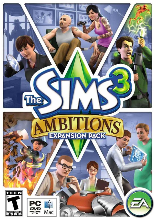 The Sims 3 Ambitions US cover
