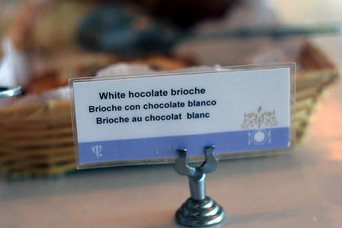 white chocolate brioche