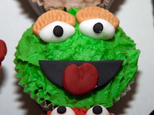 Cirencester Cupcakes - Oscar the Grouch Cupcake