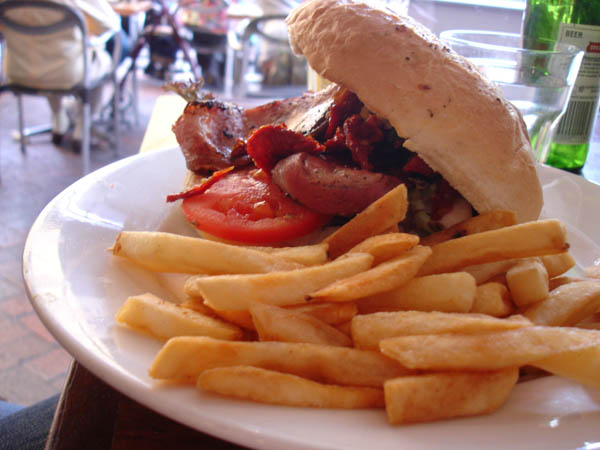 "My Cafe (Canberra) - Chicken, bacon and sundried tomatoes ""focaccia"""