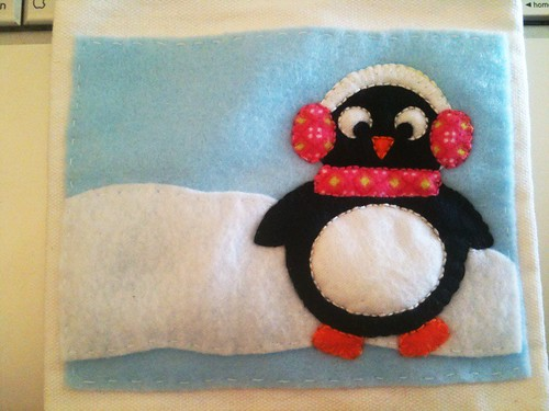 Girlie Penguin Gift Bag