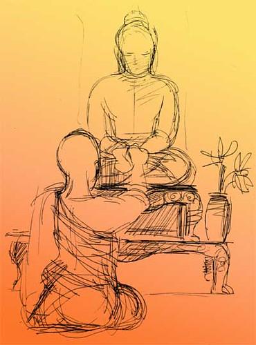 Buddhist shrine © Marcelle Hanselaar