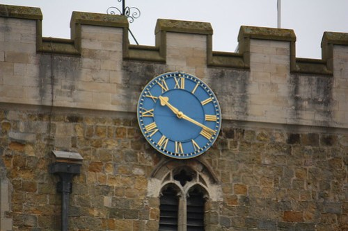 St Peter's church tower clock