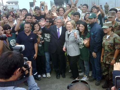 Secretary Clinton Visits Chilean Earthquake Relief Volunteers by U.S. Department of State.