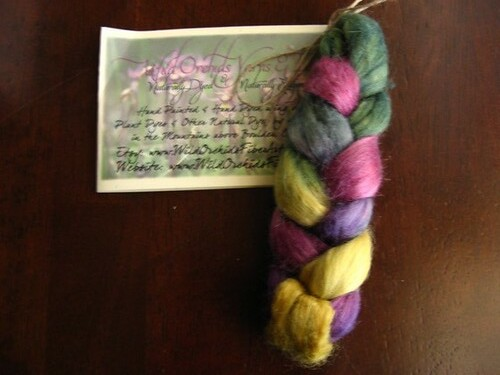 "Carnivale (light)"" tussah silk - Wild Orchids Yarns and Fibers"