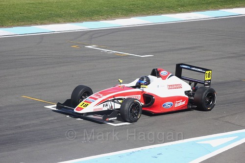 Hampus Ericsson in British F4 Race One during the BTCC Weekend at Donington Park 2017