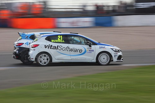 Mike Bushell in Renault Clio Cup Race Three at the British Touring Car Championship 2017 at Donington Park