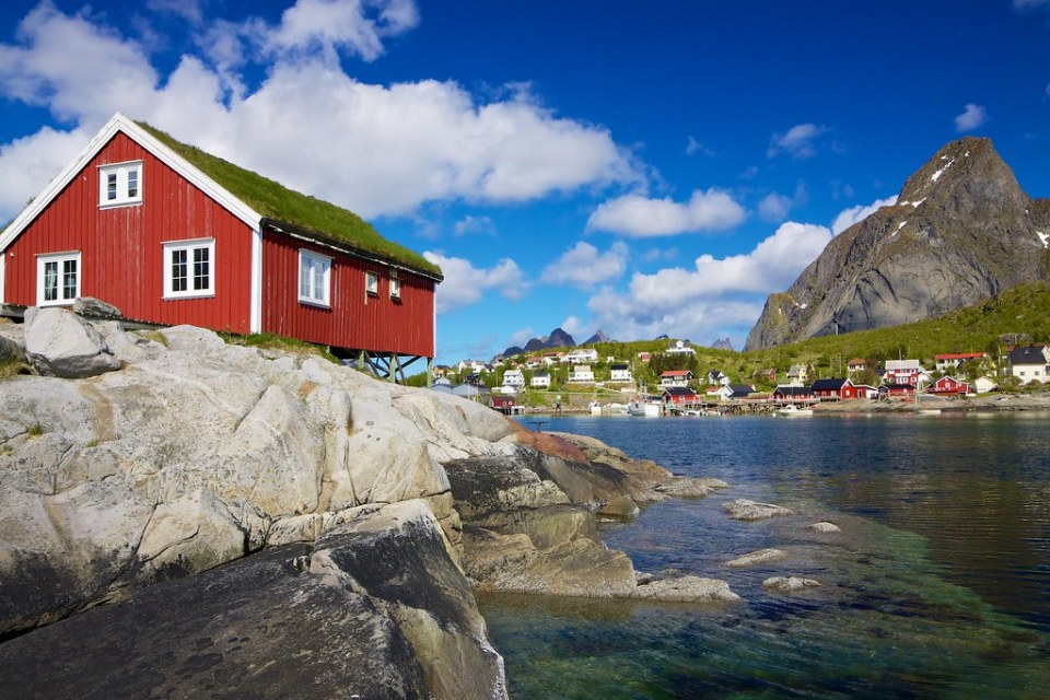 Rorbuer on Lofoten in Norway