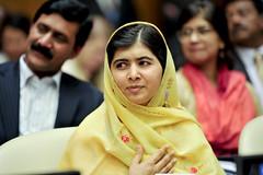 Malala Yousafzai at the Global Education First...